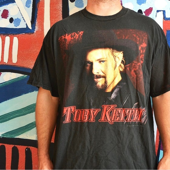 "Image of Vintage 2001 Toby Keith ""I Wanna Talk About Me!"" Country Music T-Shirt Sz.XXL"