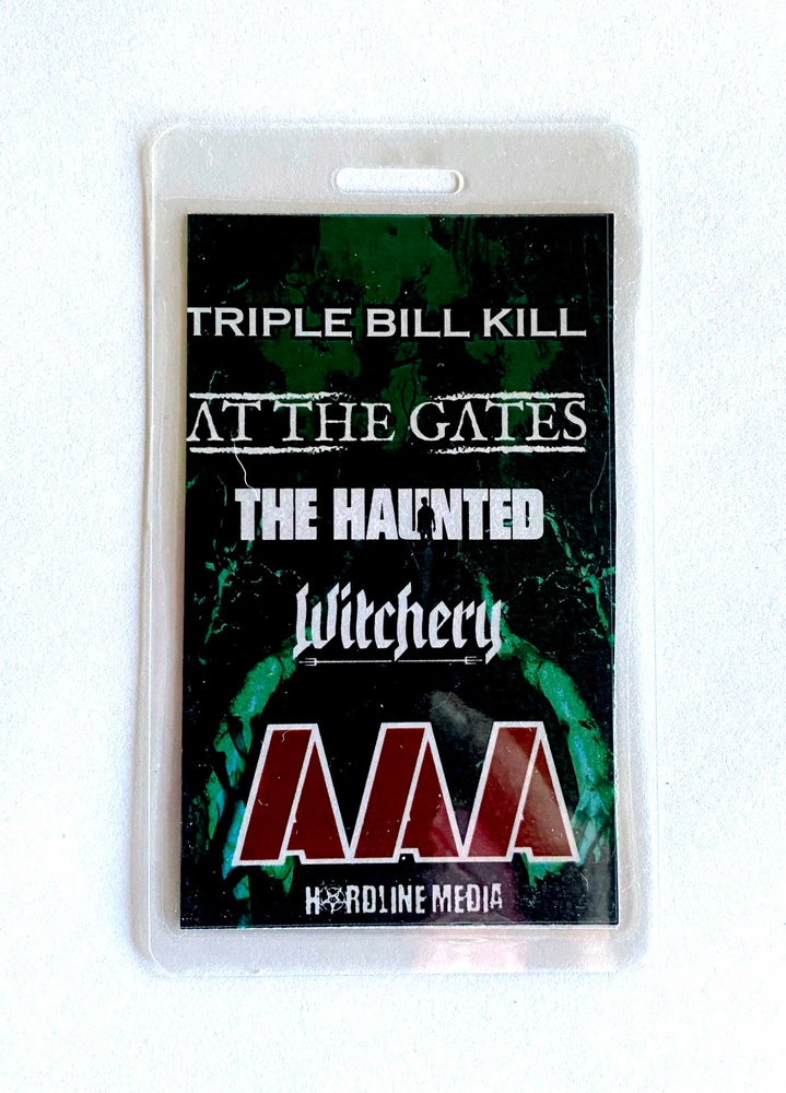 Image of AT THE GATES / THE HAUNTED / WITCHERY - Triple Bill Kill - Aussie Tour AAA Laminate