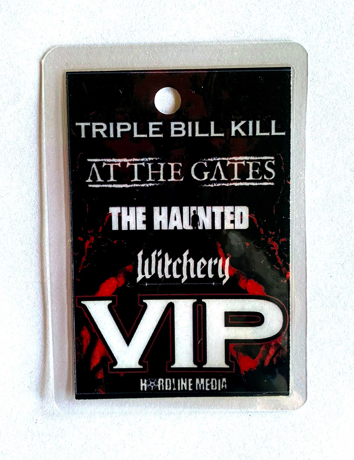 Image of AT THE GATES / THE HAUNTED / WITCHERY - Triple Bill Kill - Aussie Tour VIP Laminate