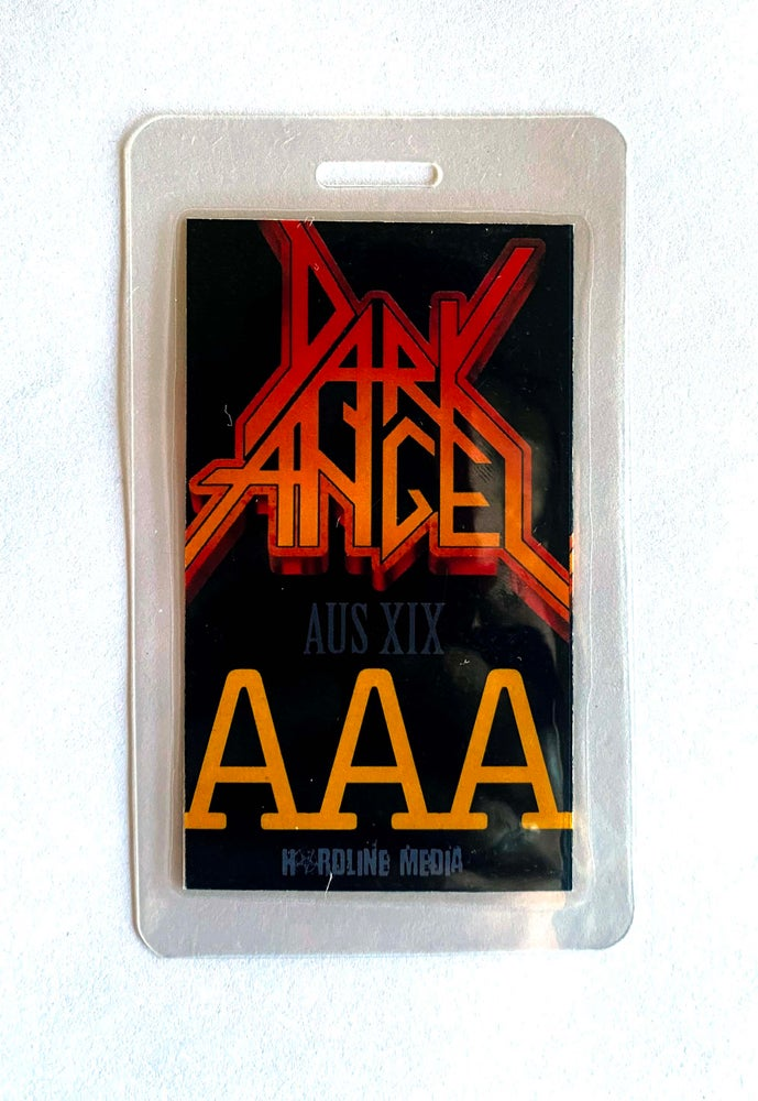 Image of Dark Angel - Australian Tour 2019. AAA laminate.