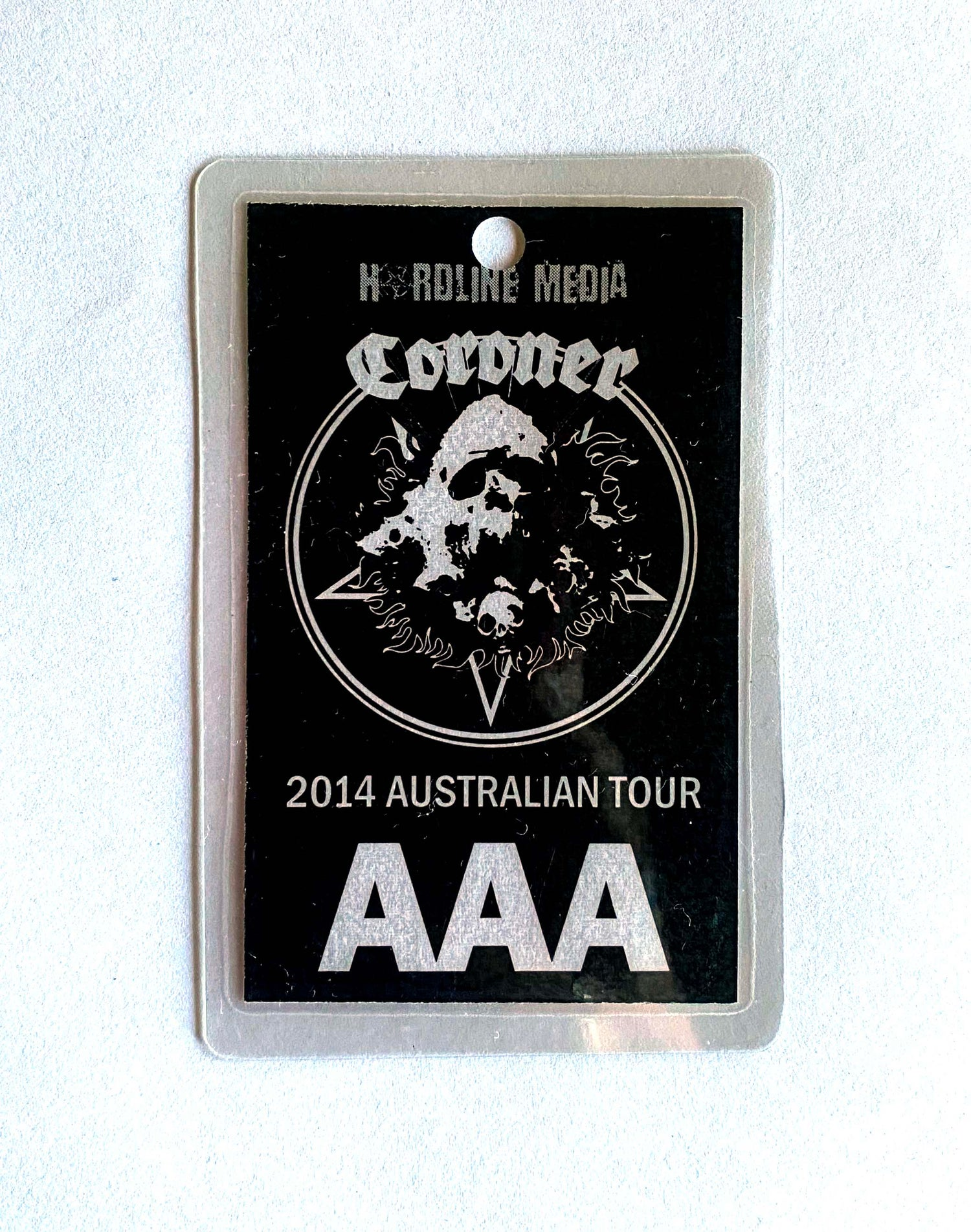 Image of CORONER -  Australian Tour AAA Laminate - ONLY ONE IN STOCK