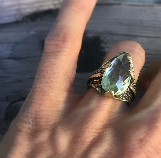 Image of Thin Air Ring with Green Quartz