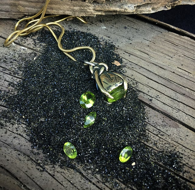 Image of Peridot Charm Necklace