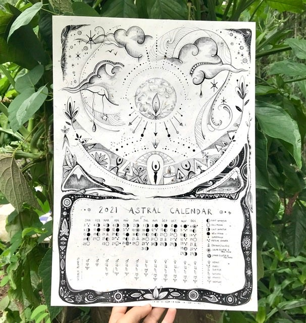 2021 Astral Calendar ~ printed on elephant poo paper