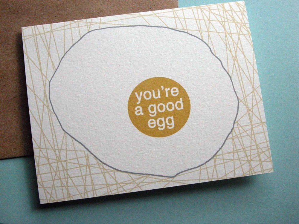 Image of you're a good egg-single folded card