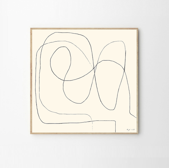 Image of Bycdesign Studio Figure 01 print, framed