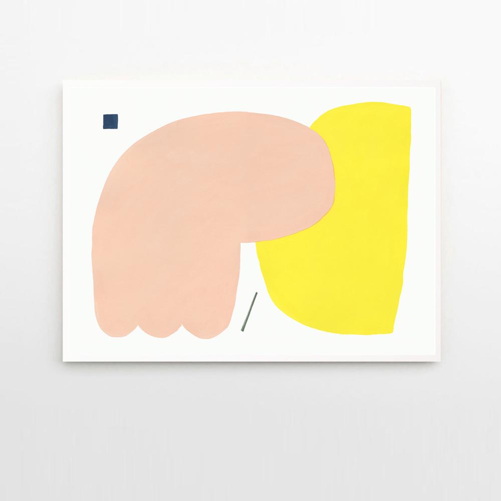 Image of Wensi Zhai 'Warm Sad' print, framed