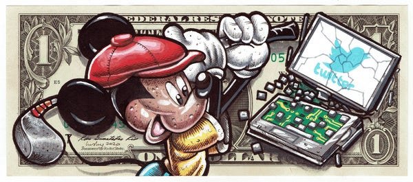 Image of Real Dollar Original. Tech Savvy Mouse.