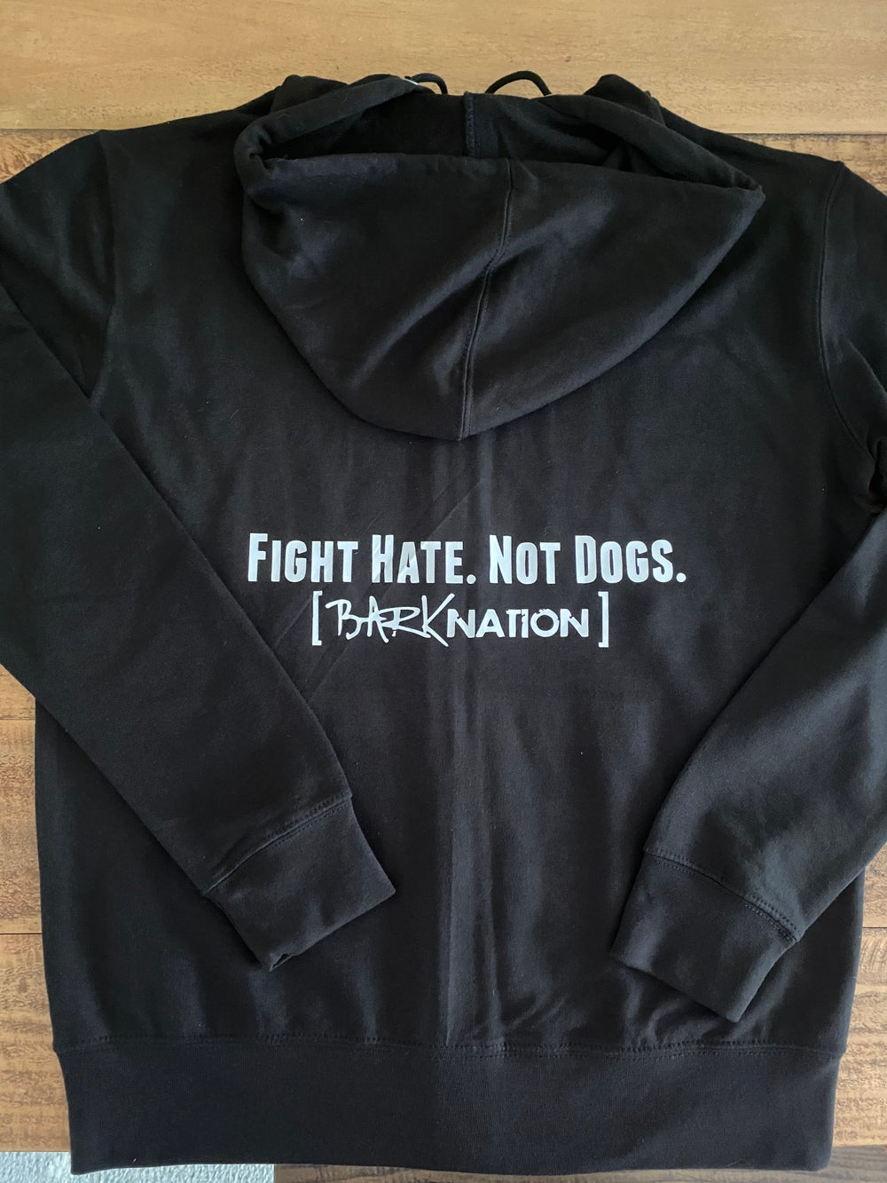 * ALMOST SOLD OUT* Fight Hate. Not Dogs. - Black Zip Up Hoodie