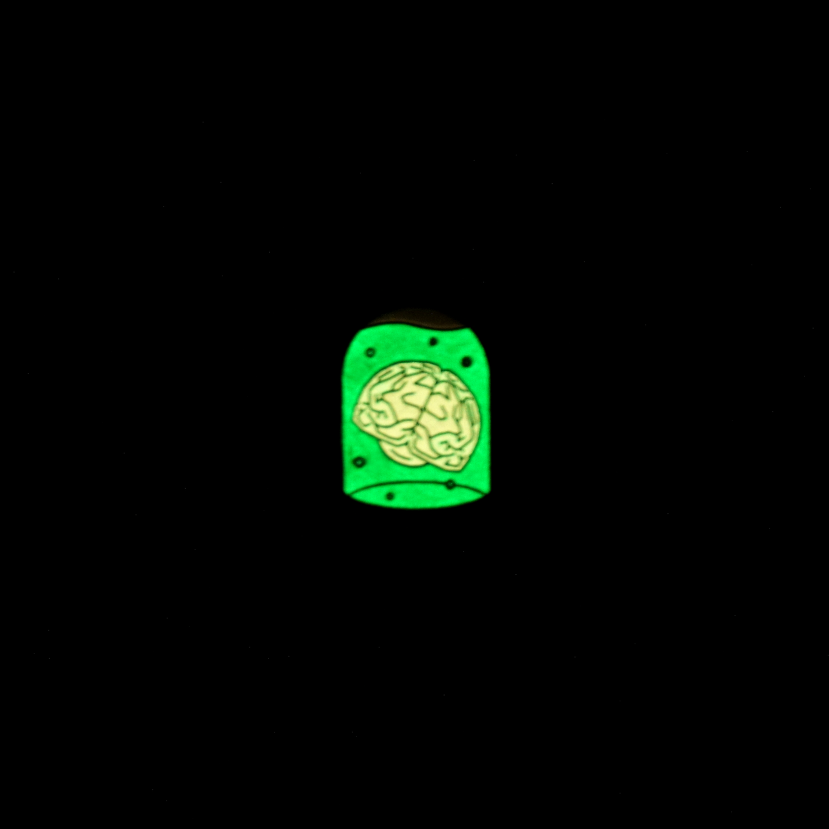 Brains in a Jar Enamel Pin