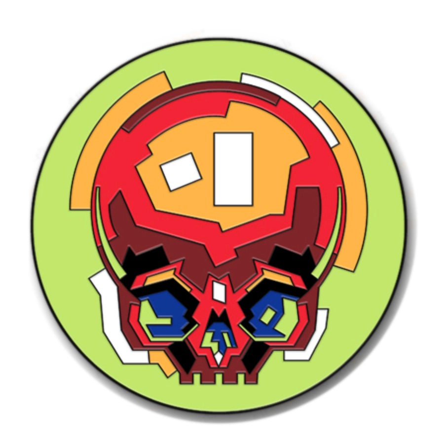 Enamel Skully Pin