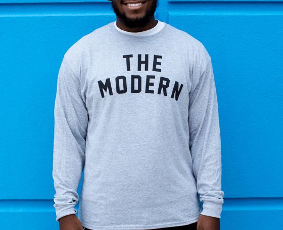"Image of Grey ""The Modern"" Champion® Long Sleeve Tee"