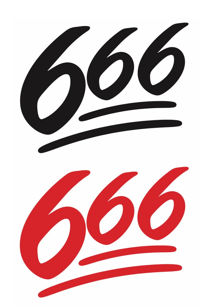 Image of 666 💯 sticker