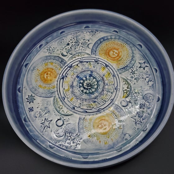 Image of Celestial Moon Phases Porcelain Garlic Grater