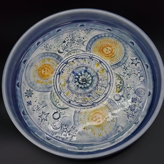 Image of Celestial Moon Phases Porcelain Garlic Grater