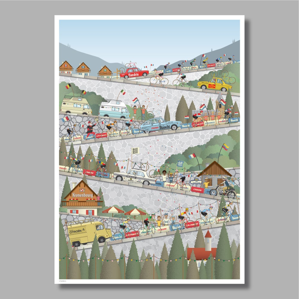 Image of Alpe d'Huez Giclee Print