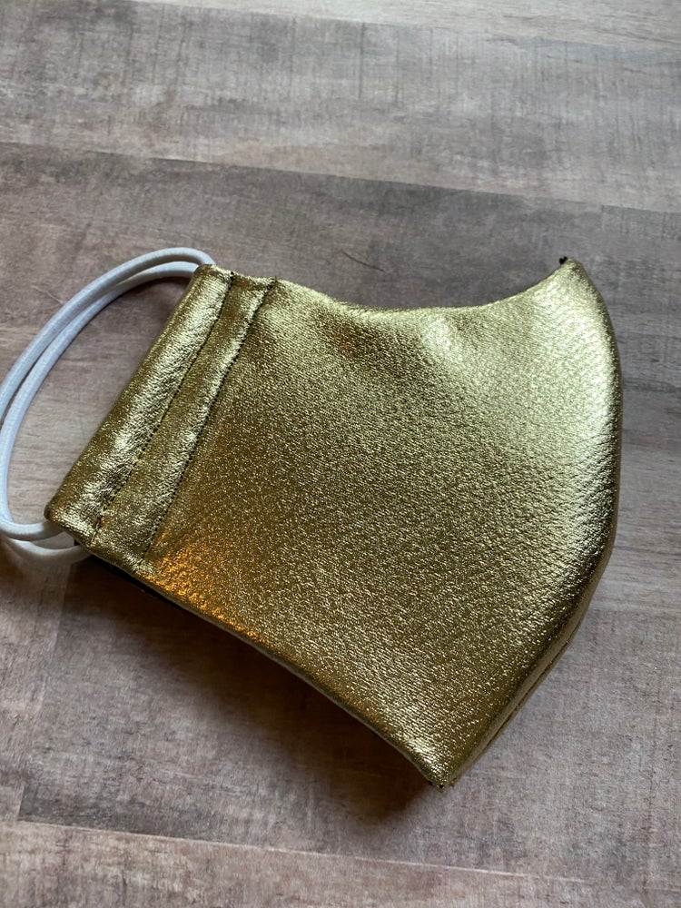 Image of Faux Leather Look - Face Mask