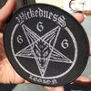 Wickedness Goat Pentagram Woven Patch.