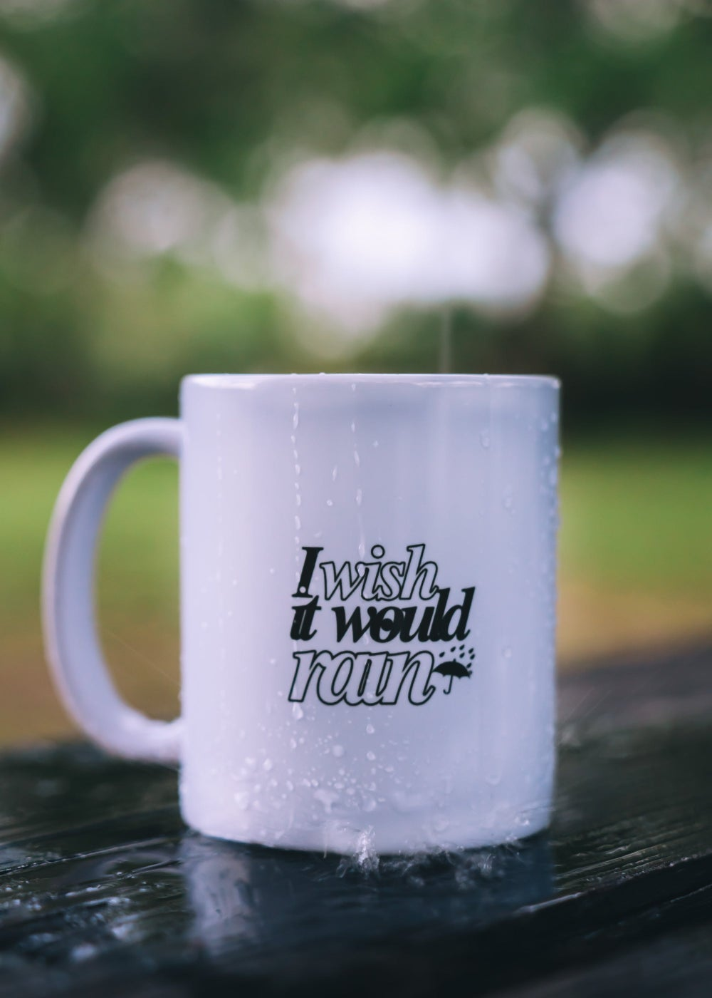 """I WISH IT WOULD RAIN"" MUG"