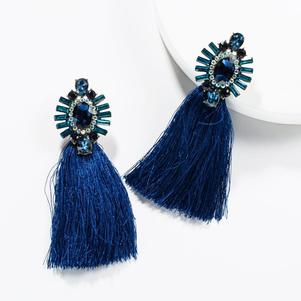 Image of Rhinestone Earrings