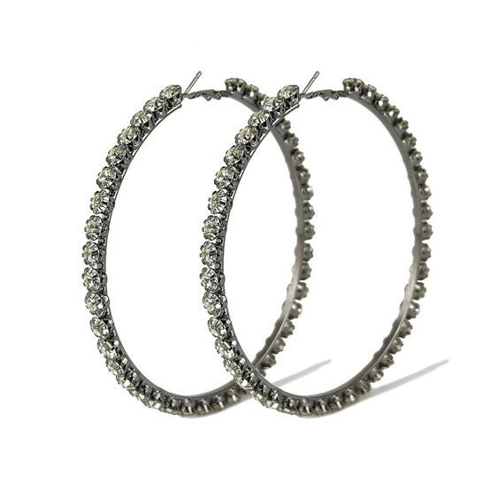 Image of Large Diamond Hoops