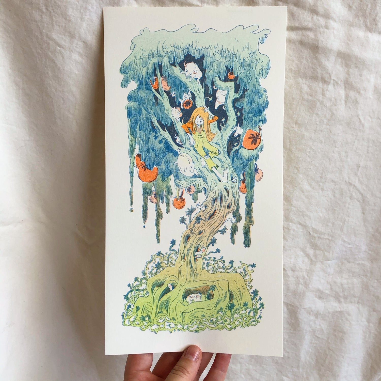 Magical Orange Tree Print