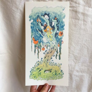 Magical Orange Tree Print