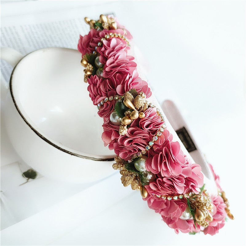 Image of Retro Style Cloth Flower Headband