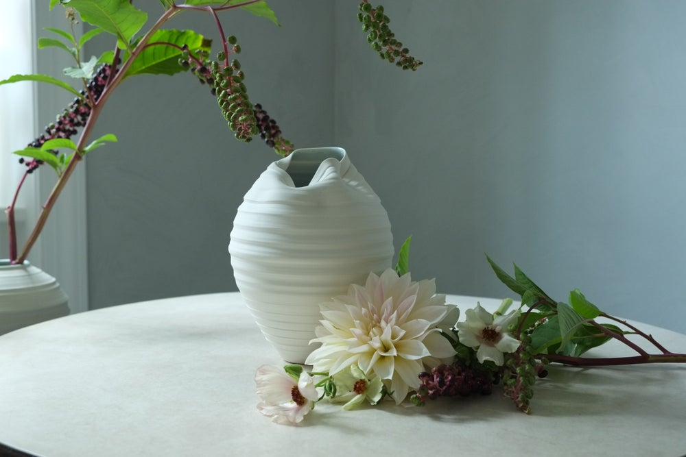 Image of Scorpion Vase, Warm White, #874