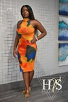 The Orange Psychedelic Dress
