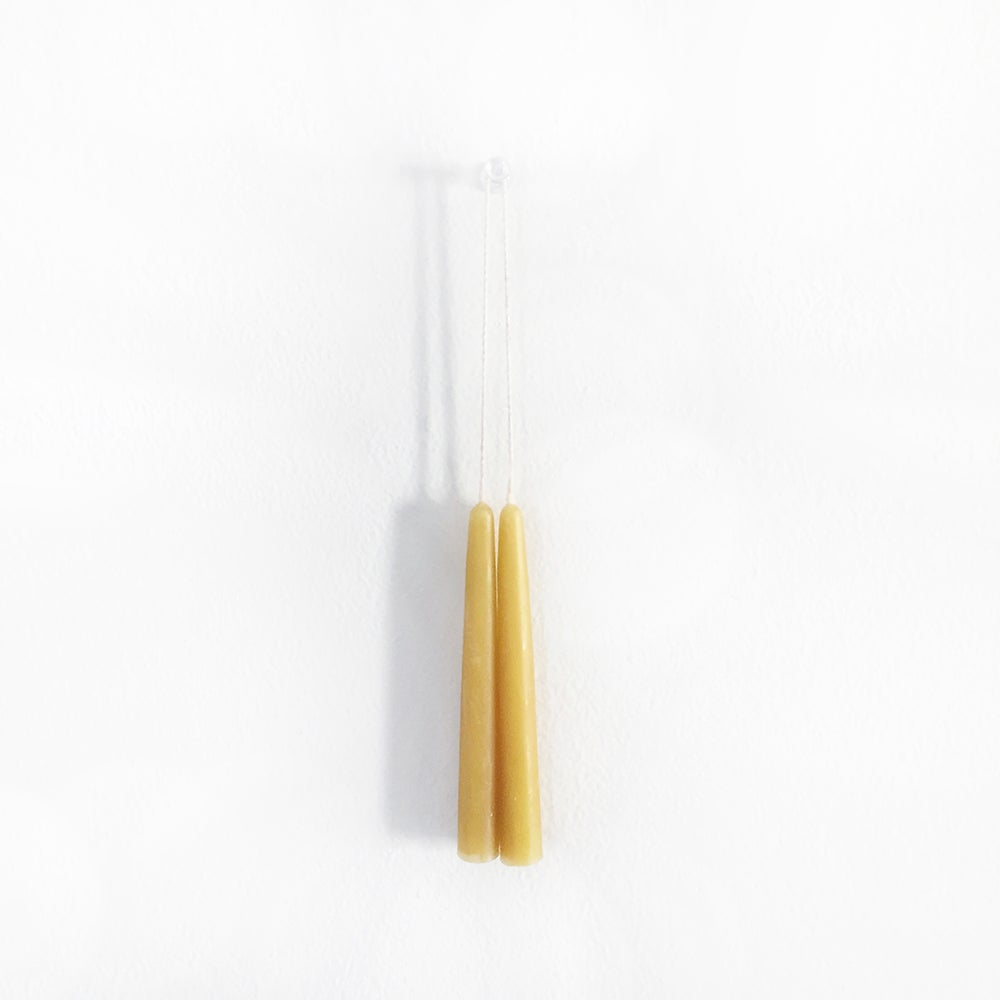 Image of Hand Poured Beeswax Ritual Mini Taper Candles