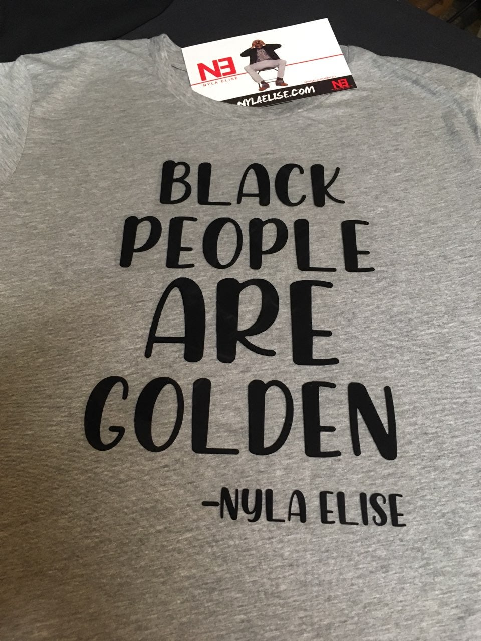 "Image of ""BLACK PEOPLE"" (T-SHIRT) GREY"