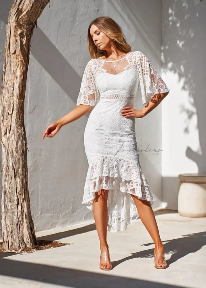 Image of Reyna dress. White. Two Sisters the Label.