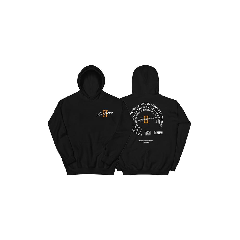 Image of ACEDIMEN 2 Hoodie - Black *Preorder*