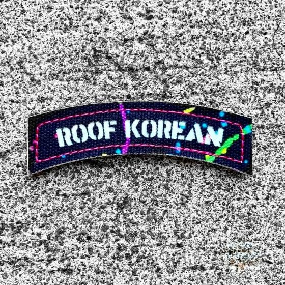 Image of Roof Korean Splatter paint laser cut  gitd