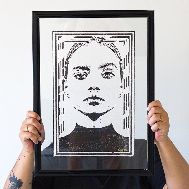 Image of Ache 77 /xilografia bianco e nero