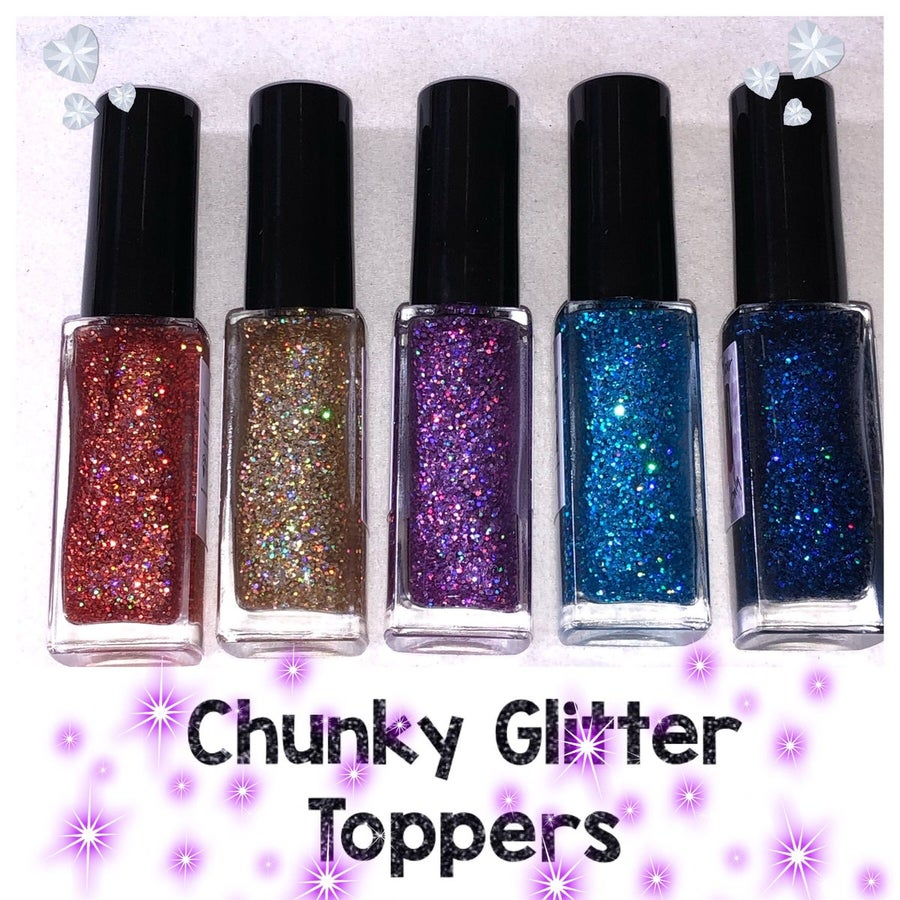 Image of Chunky Glitter Toppers
