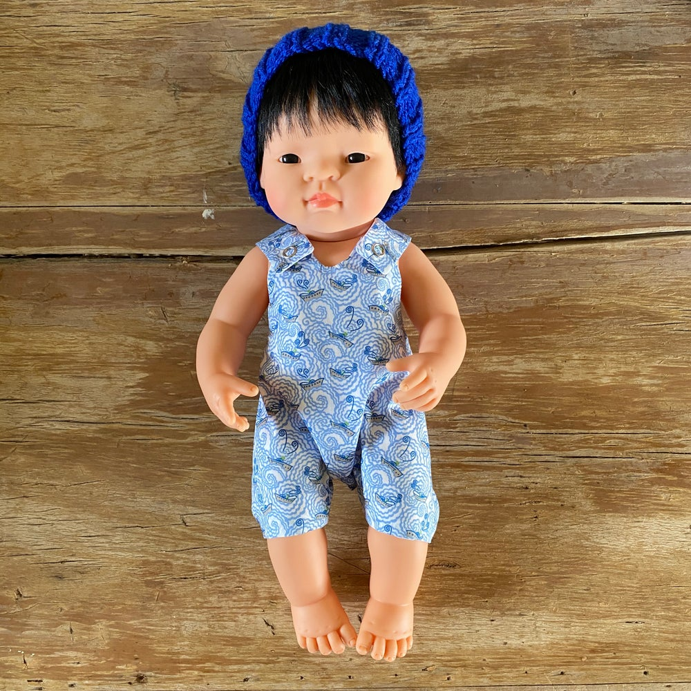 Image of Liberty Romper to suit 38cm Miniland Doll - Little Boats