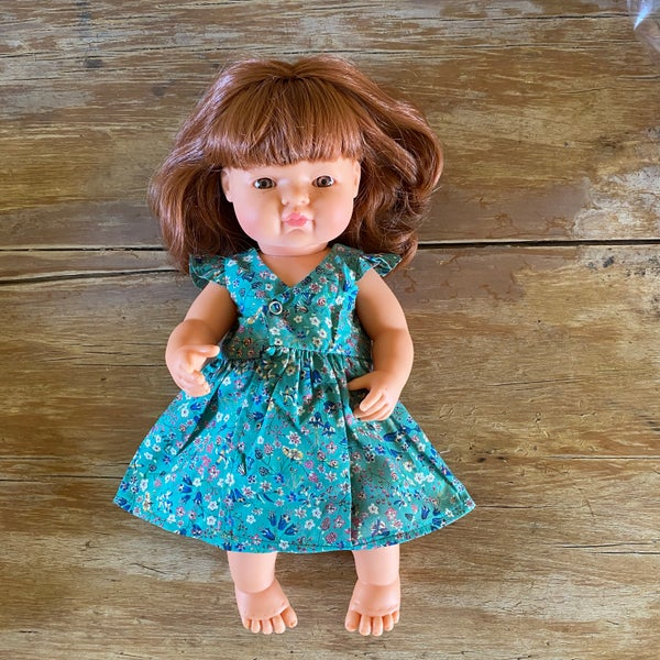 Image of Liberty wrap dress to suit 38cm Miniland Doll - Donna Leigh