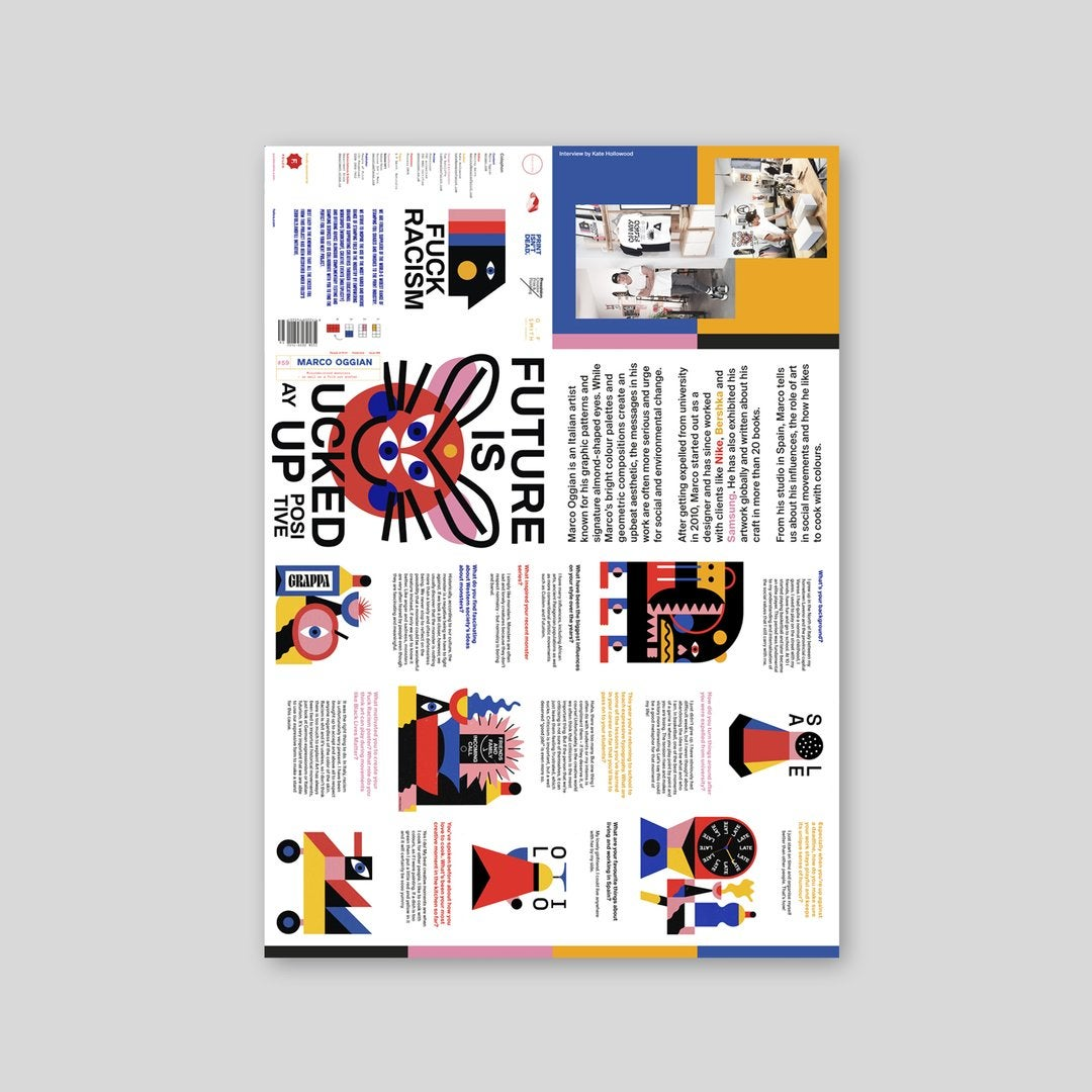 Image of Posterzine Issue 59 by Marco Oggian