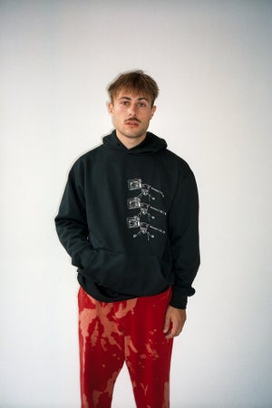 Image of TVPARTY HOODIE BLACK