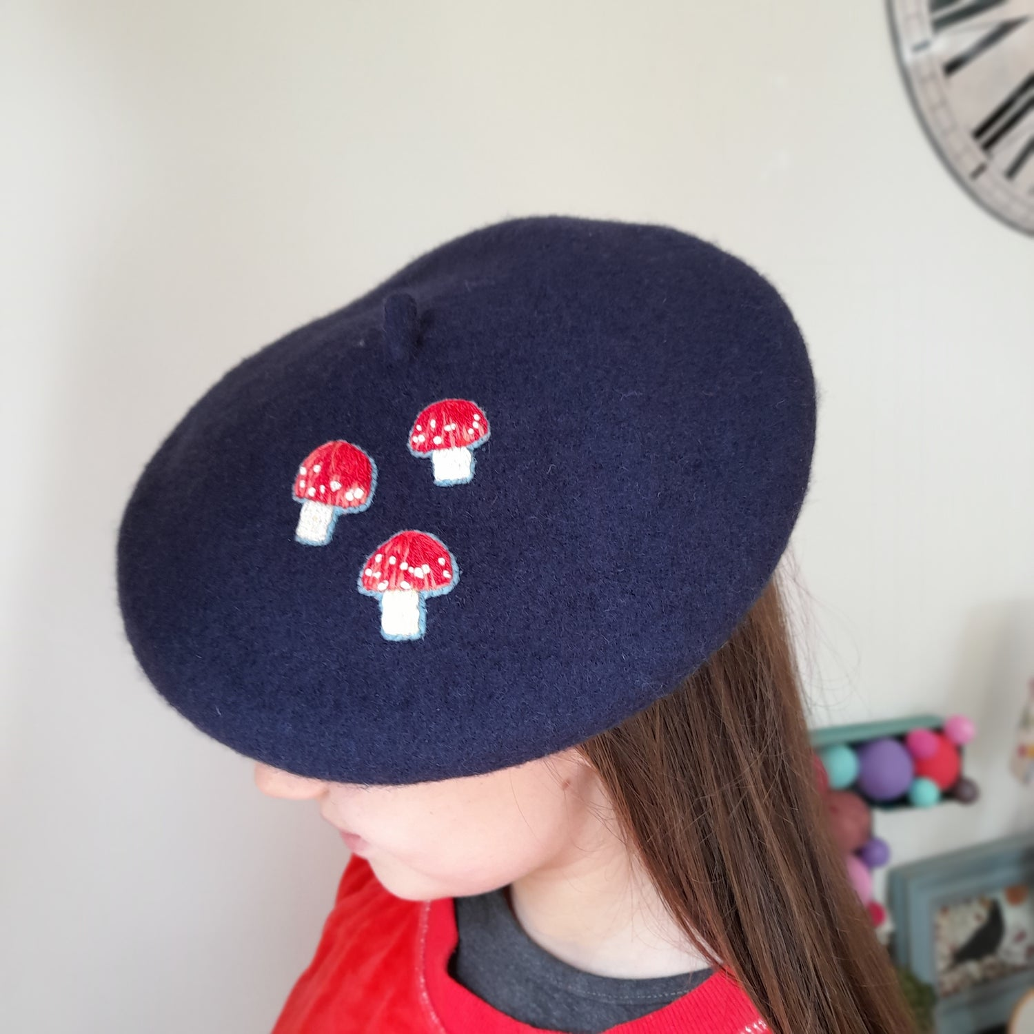 Image of Child's Toadstool Embroidered Beret