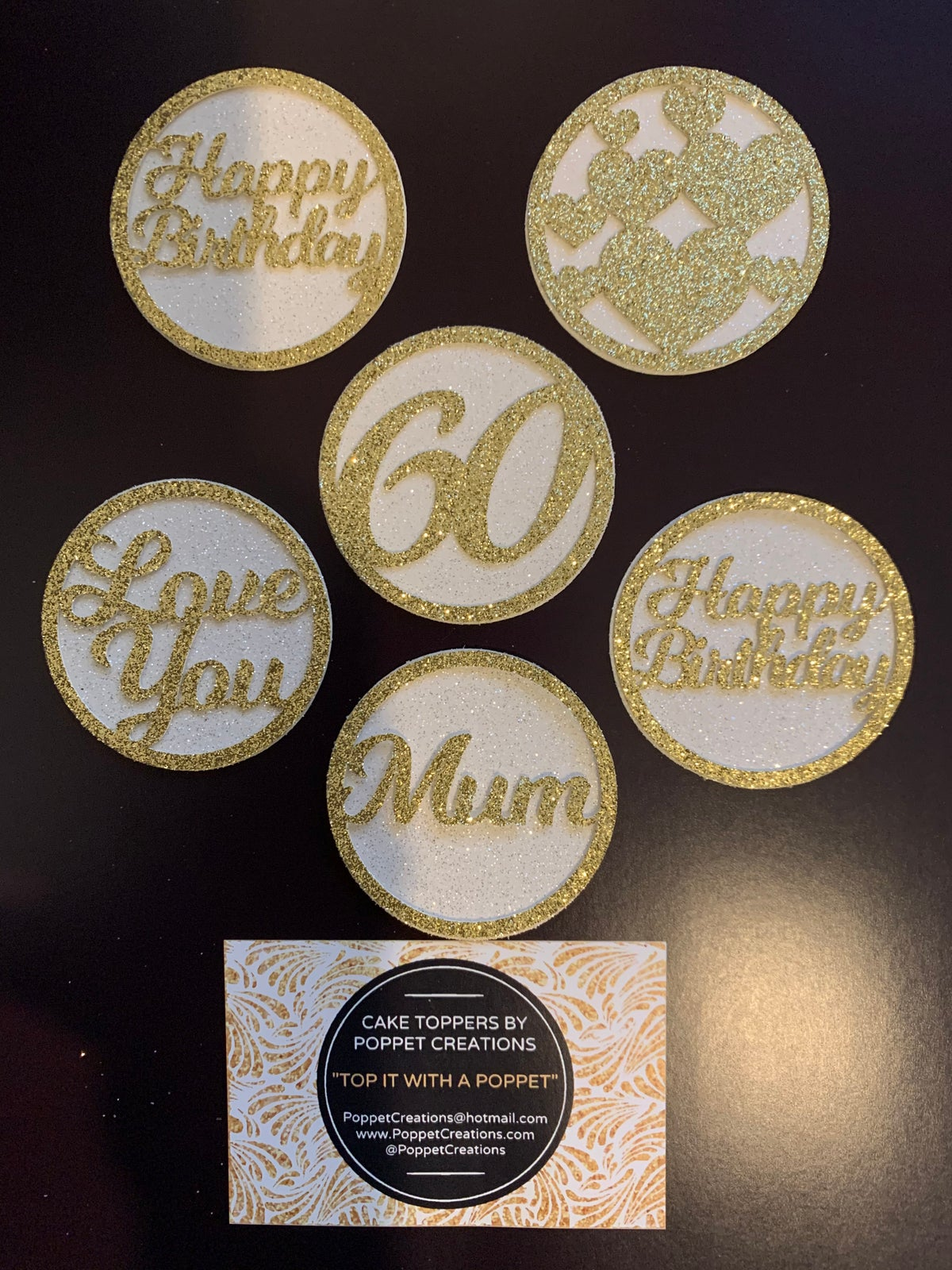 Image of Cupcake toppers DISCS (set of 6)