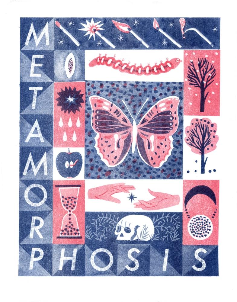 Image of Metamorphosis riso print