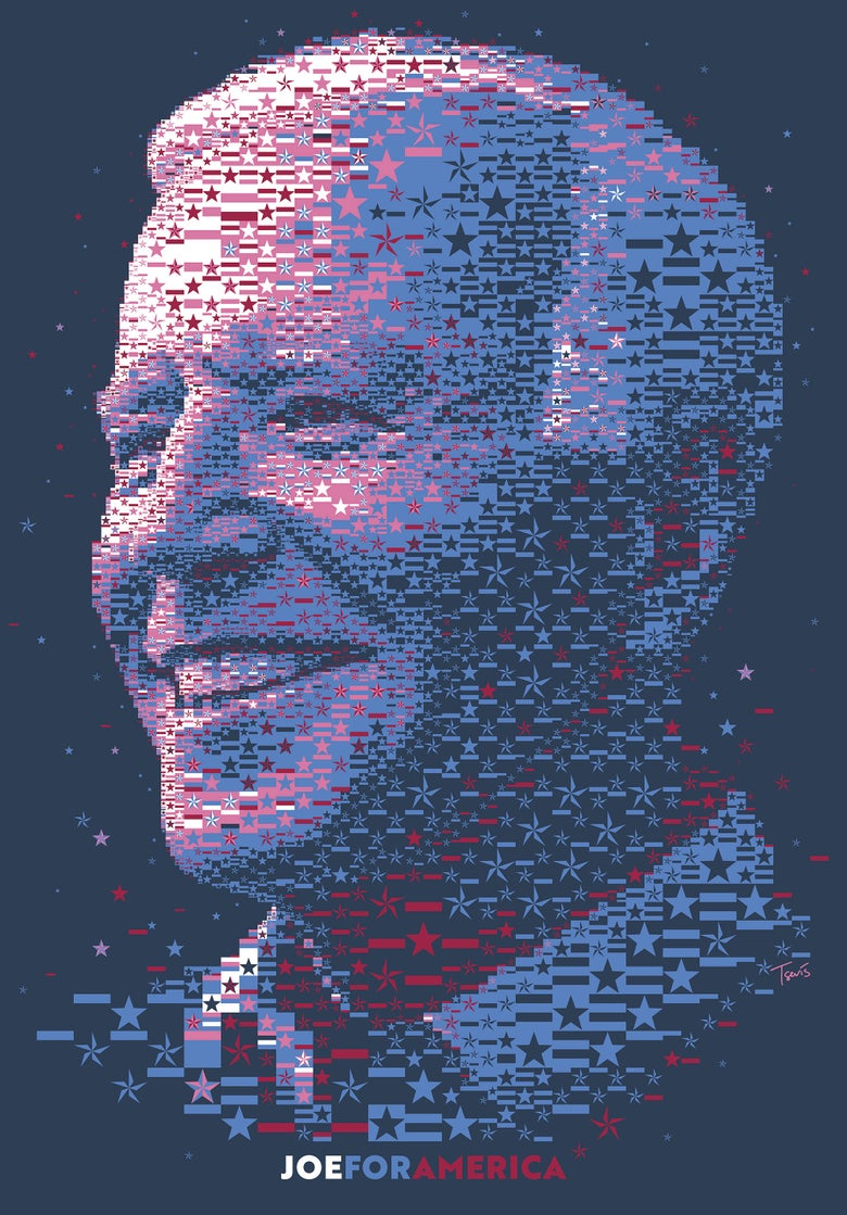 Image of Joe Biden: The Stars and Stripes portrait