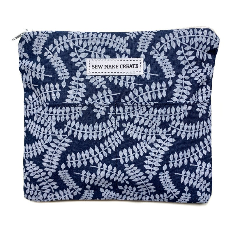 Image of Fabric Mask Bag (Indigo Fern)