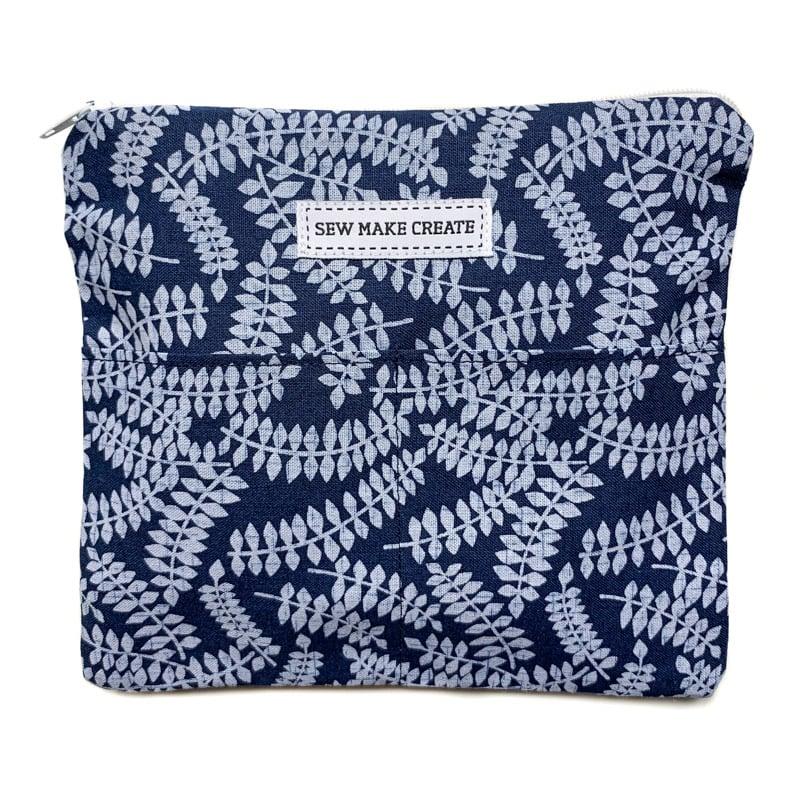 Image of Fabric Mask Bag (Indigo Fern)