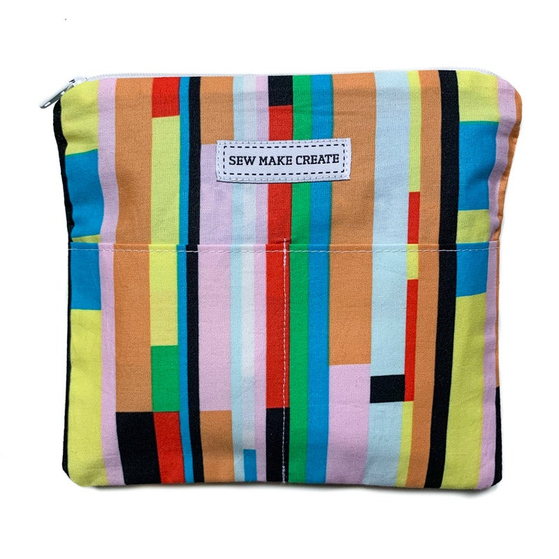 Image of Fabric Mask Bag (Graphic Rainbow)