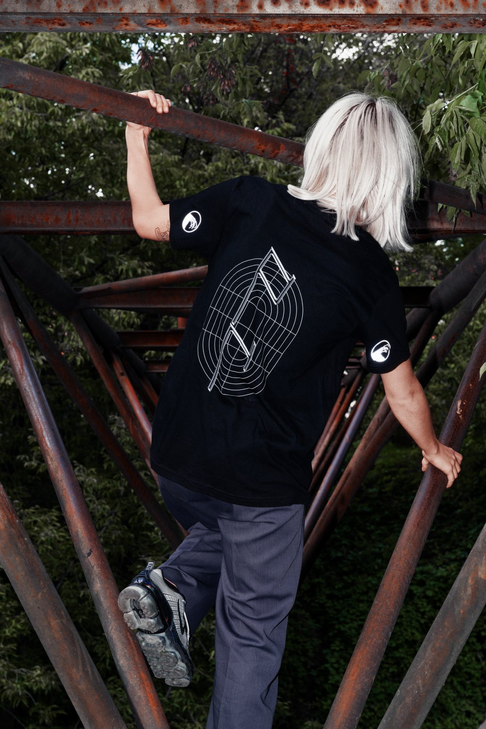Image of DT T-Shirt with reflective logos