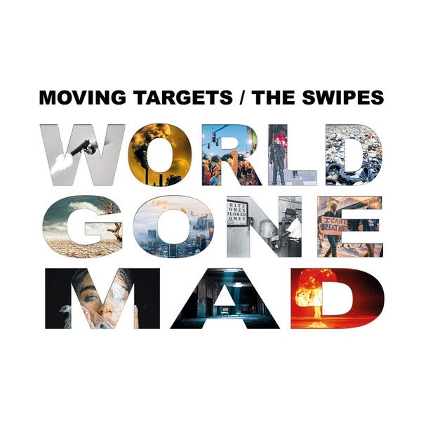 Image of MOVING TARGETS / THE SWIPES - WORLD GONE MAD SPLIT CD (GERMAN IMPORT)